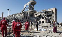الصليب الأحمر يدحض ادعاءات التحالف بقصف مخزن سلاح