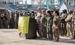 """قيادات عسكرية كردية تابعة لمليشيات """"قسد"""" تزور آل سعود"""